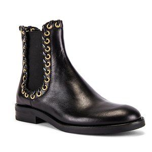NWT See By Chloe Helen Bootie Nero Black Gold 38.5